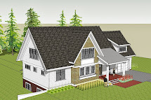 House Plans with Gable Front View