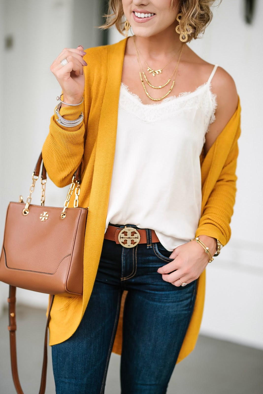 Under $30 Mustard Yellow Cardigan - Target Style! - Something Delightful Blog @racheltimmerman