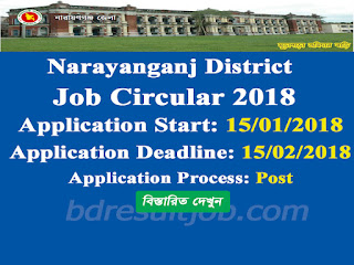 Narayanganj District Office job circular 2018