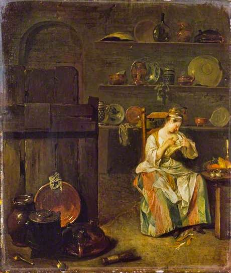 A Girl in a Kitchen by Nicolas Lancret, 1720s