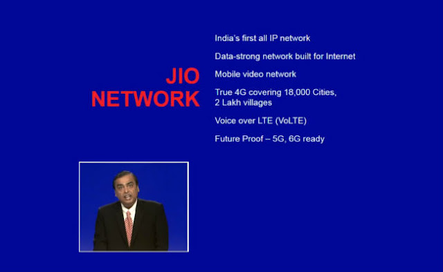 Reliance Jio Official Launch and Tariffs Plans 6 Jio Network 5G 6G Ready