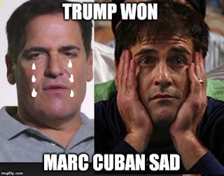 Mark Cuban, Hillary Clinton, President Donald Trump