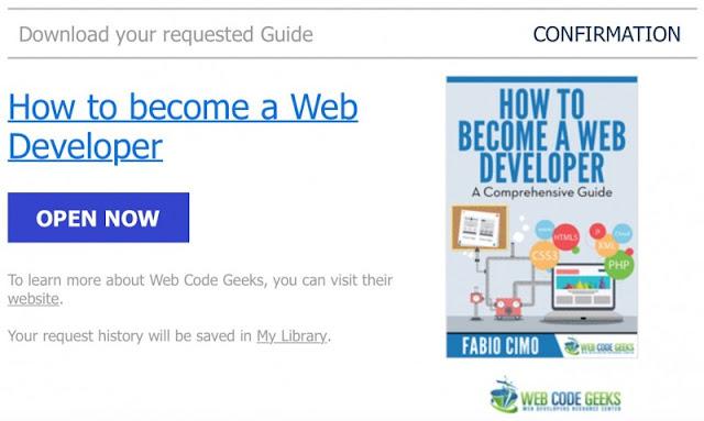 Konfirmasi Ebook: Bagaimana Caranya Menjadi Web Developer