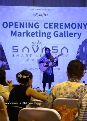 penyanyi ica zahra savasa smart lifestyle opening ceremony marketing gallery deltamas nurul sufitri blogger sinar mas land panasonic sojitz