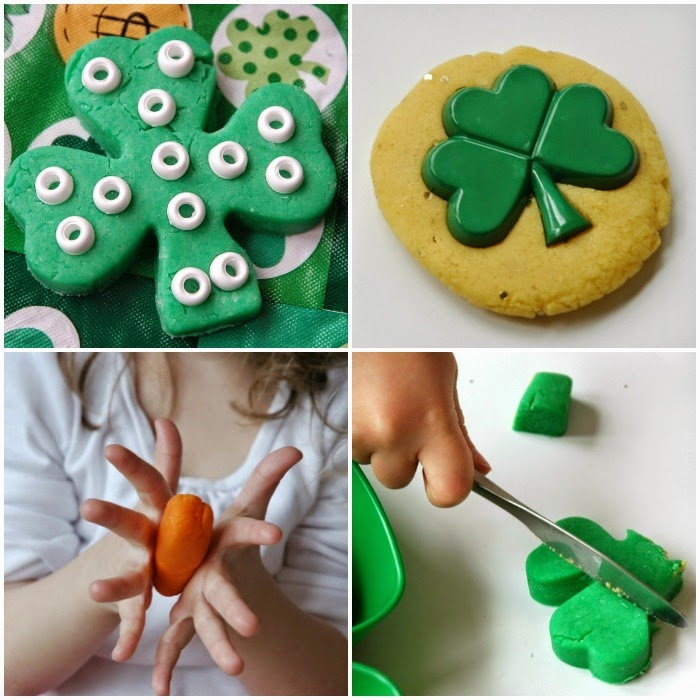 St Patrick S Day Play Dough Tray What Can We Do With