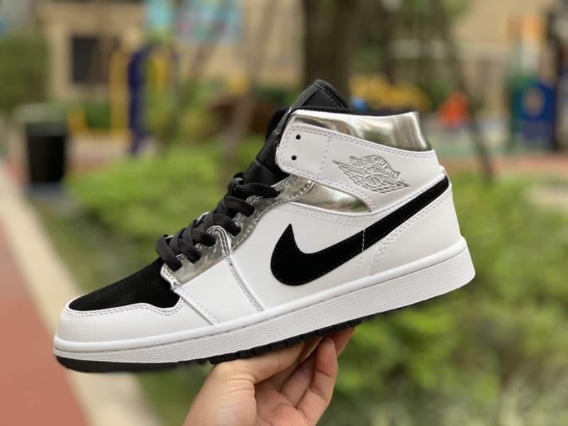786bee1d4226c3 Air Jordan 1 Mid  White Silver  Kawhi Leonard Alternate Shoes 554724-121 -  www.anpkick.com