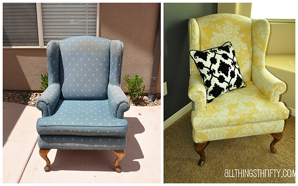 Reupholstering A Chair Patio Repair Material Upholstering Wing Back Upholstery Tips All Things Thrifty