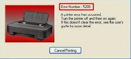 Mengatasi Error 5200 Canon IP2770