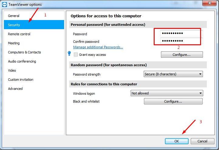 Cara Setting Password TeamViewer Agar tidak Berubah-ubah
