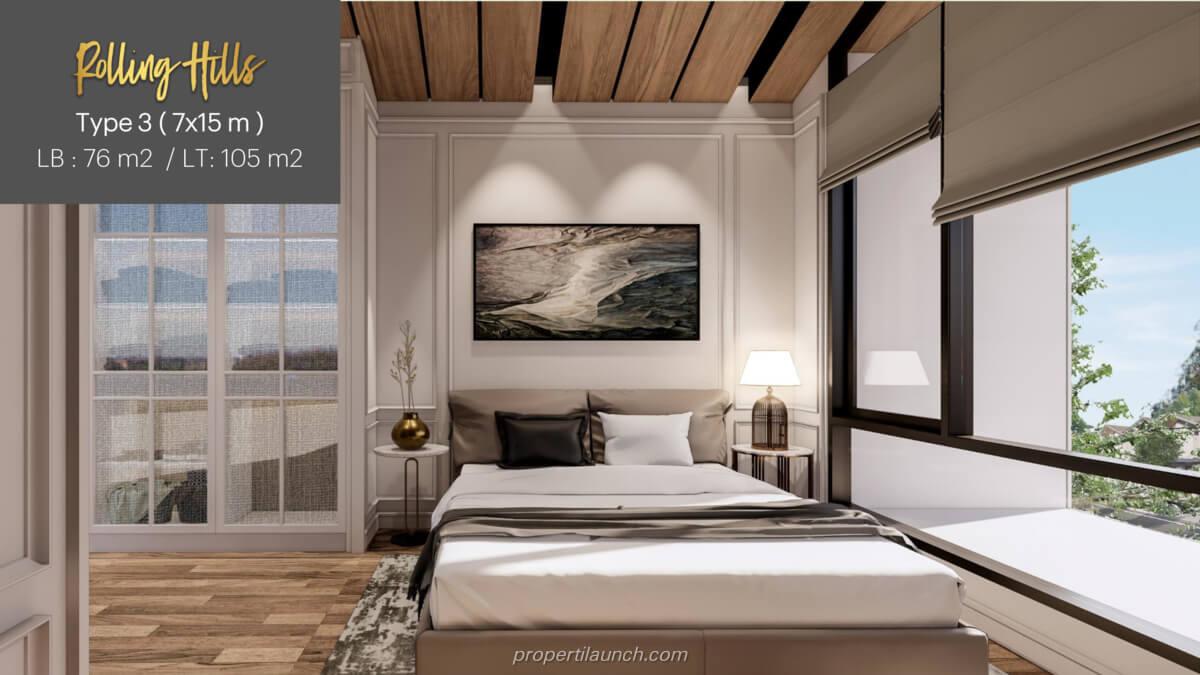 Interior Rumah Rolling Hills Karawang Tipe 3 - Master Bedroom
