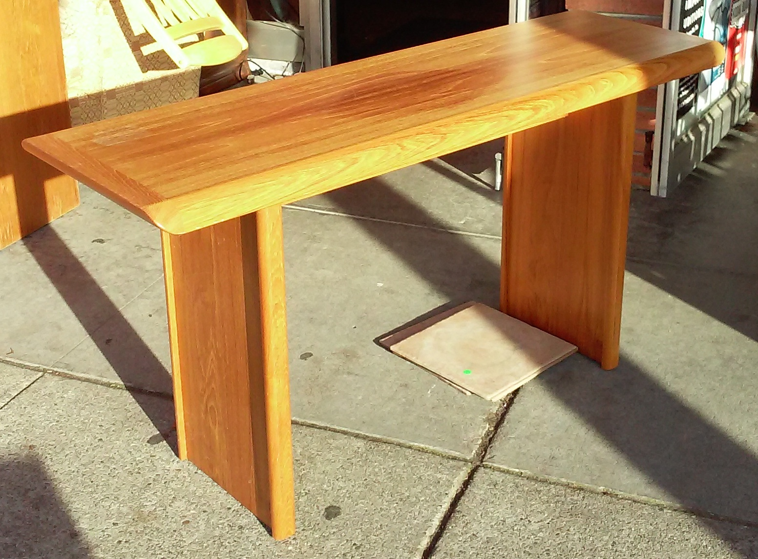Sold 11008 Danish Style Teak 28 X 18 53 Wide Console Table 125