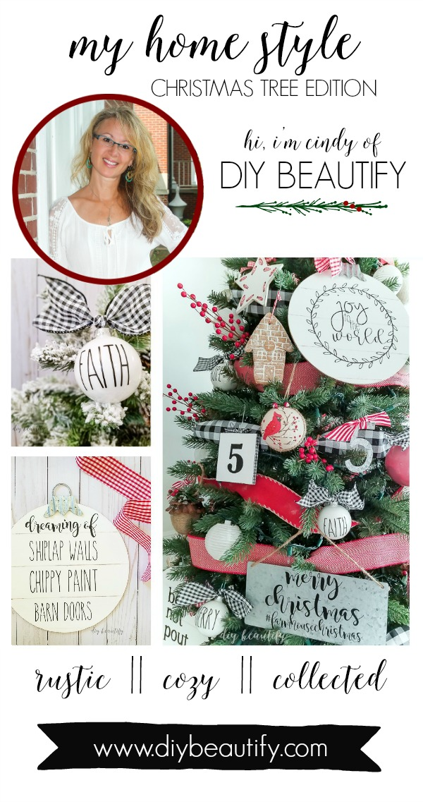 My Home Style Blog Hop - Christmas Tree Edition