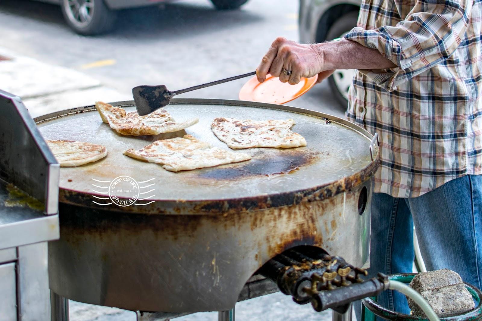 5 Hawker Food in Georgetown, Roti Canai @ Jalan Argyll