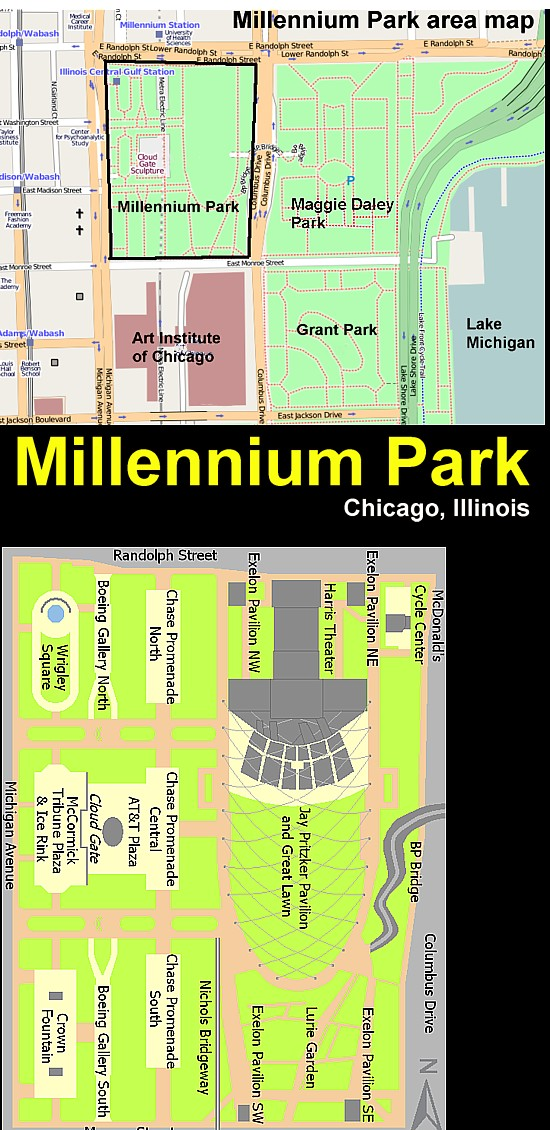 Art Now and Then: Millennium Park, Chicago Map Millenium Park Chicago on mile square park map, millenium garden chicago map, drawings of water park map, rogers park chicago map, millenium park skyline, morgan park chicago map, marquette park chicago map, lincoln park chicago map, milleneum park map, chicago park district map, washington park chicago map, humboldt park chicago map, jackson park chicago map, millenium park chicago library, millenium park chicago statue, millenium park navy pier,