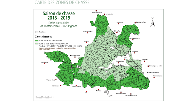Calendrier Chasse Fontainebleau 2018-2019