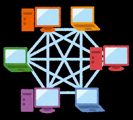 P2Pネットワークのイラスト