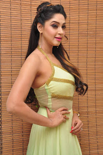 Actress Angana Roy Latest Pohtos in Long Dress at Sri Sri Movie Audio Launch 0013