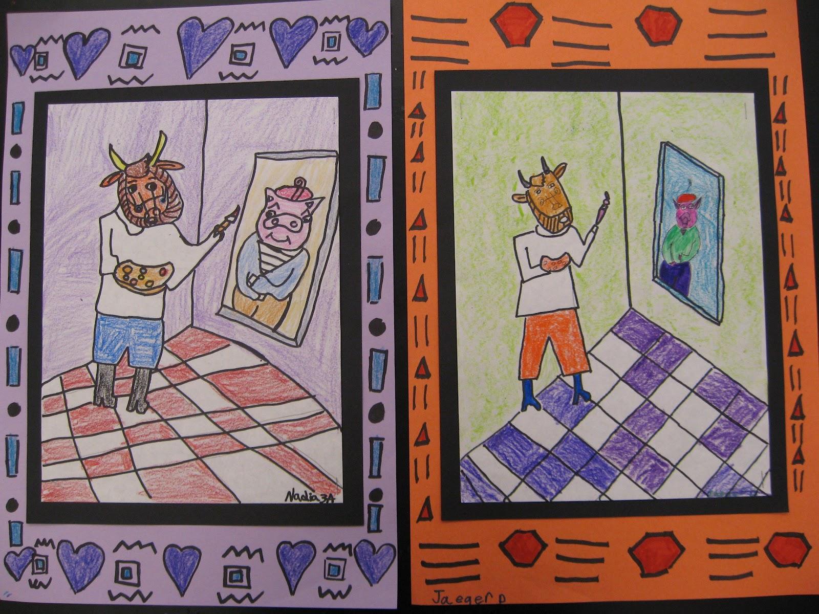 Jamestown Elementary Art Blog 3rd Grade Matisse Vs Picasso