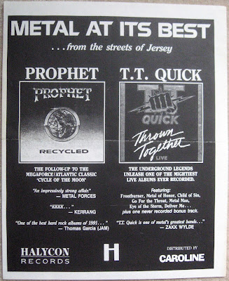 Poster for the release of TT Quick... Thrown Together Live and Prophet... Recycled