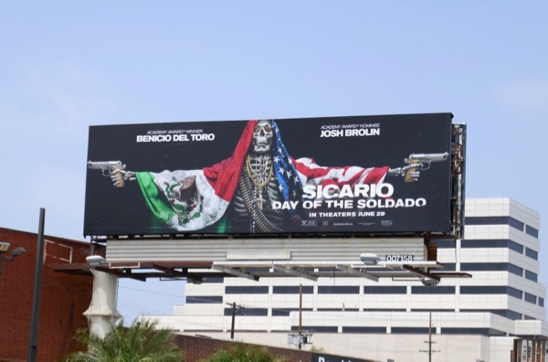 Sicario Day of Soldado film billboard