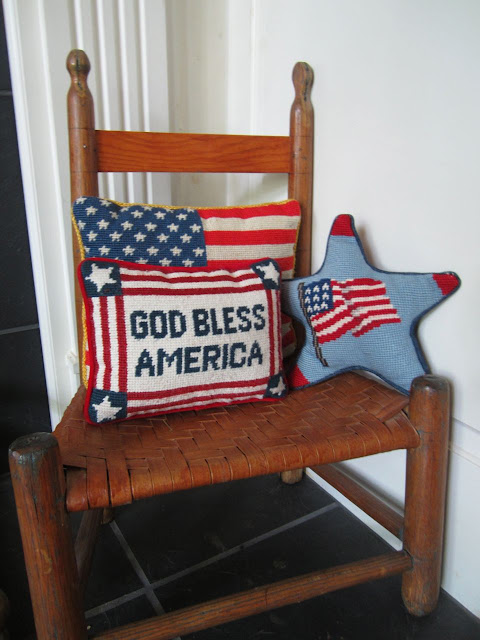 needlepoint red, white and blue