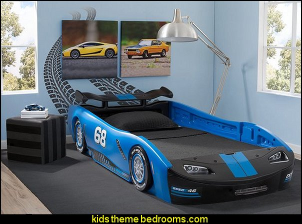 Blue Delta Children Turbo Race Car Twin Bed