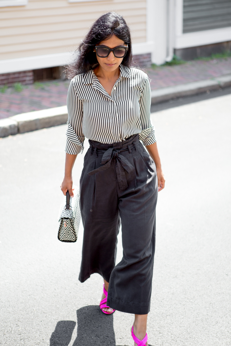 nordstrom anniversary sale, paper-bag, paper bag pants, palazzo pants, summer style, summer pants, work style, work outfit, business casual, satin sandals, ted baker, zara, nordstrom, affordable style, petite blogger, fashion blog, 40plusstyle, trendy, neutrals, officestyle
