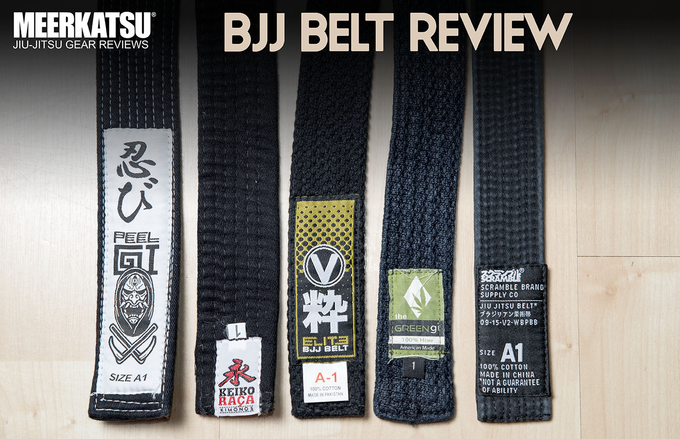 Belt review: Peel Gi, Keiko Raca, Valor, Green Gi, Scramble