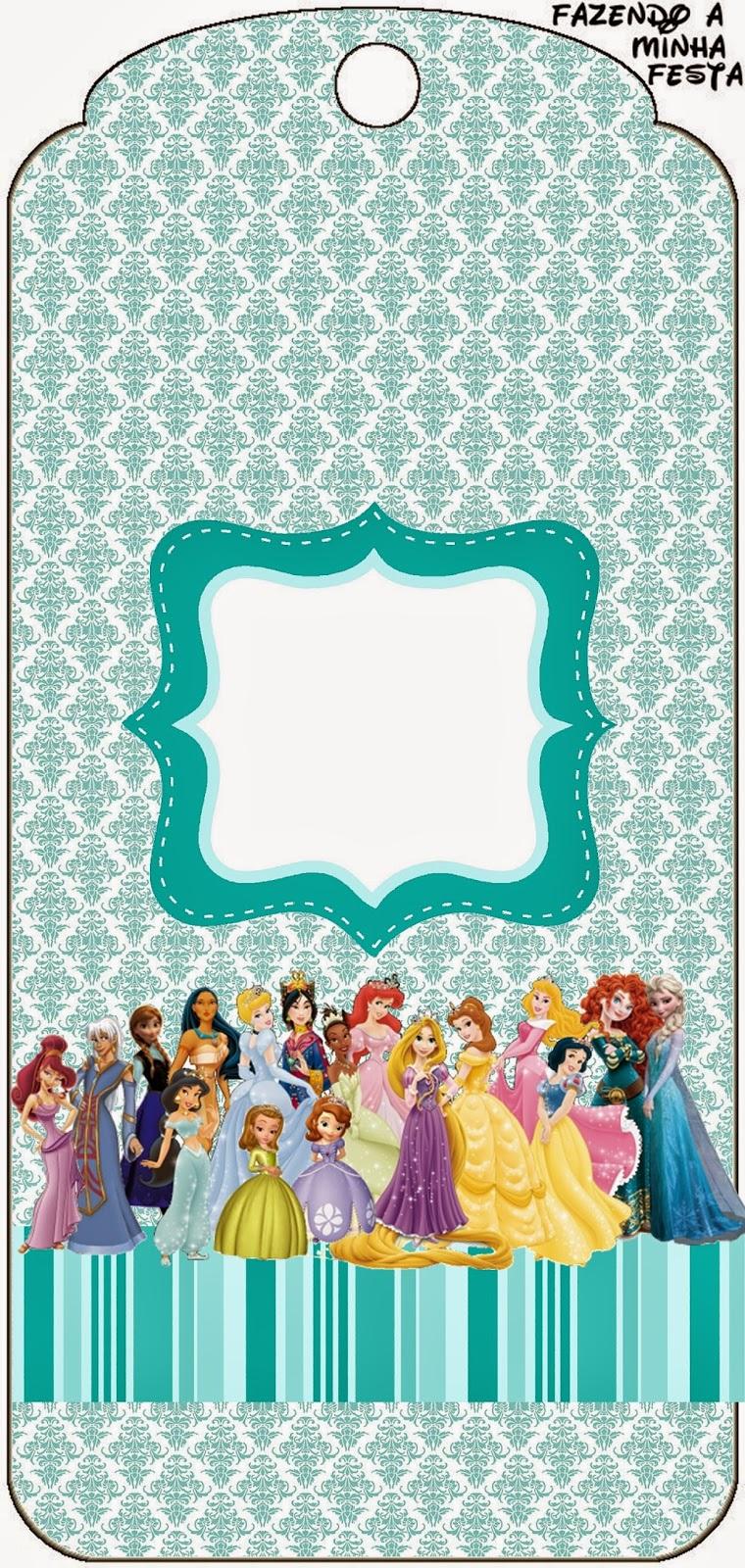 Marcapáginas de Princesas Disney  para imprimir gratis.