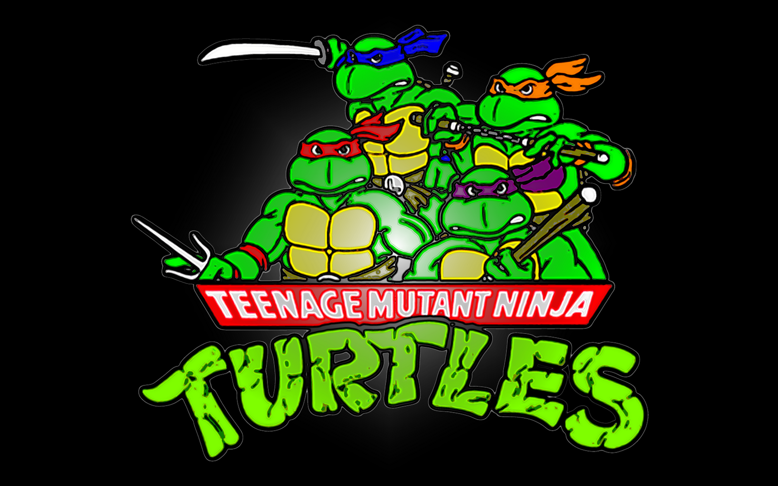 desktop wallpaper: teenage mutant ninja turtles hd logo wallpaper