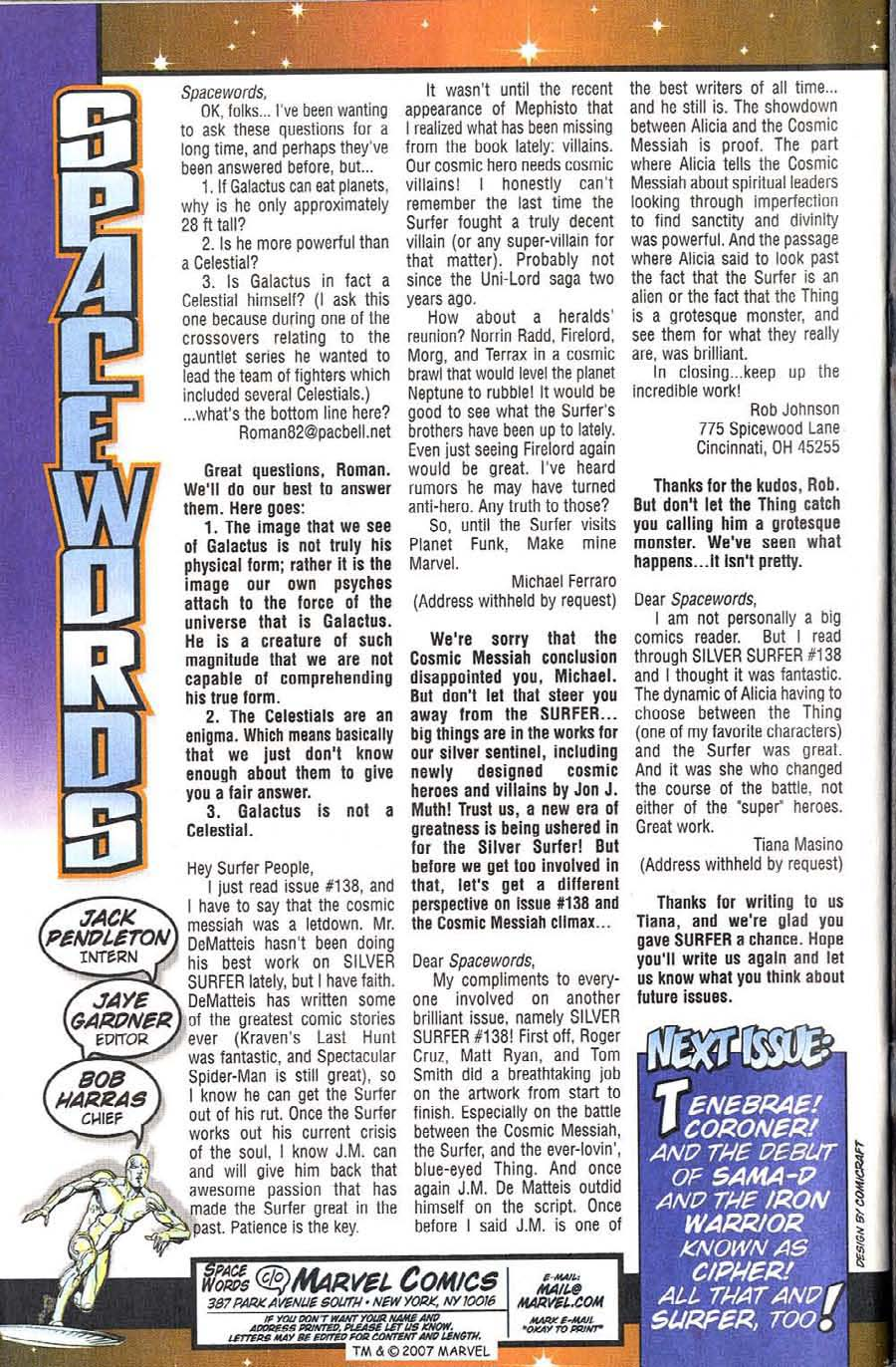 Read online Silver Surfer (1987) comic -  Issue #140 - 36