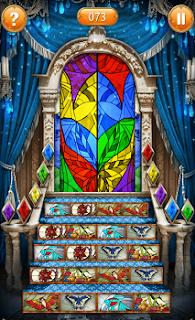 Окончательный вид всех иллюстраций на ступеньках, которые открыты по порядку цветовой гаммы