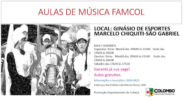 Prefeitura oferece aulas gratuitas de música e dança