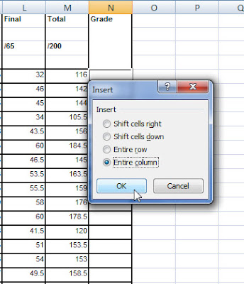 Create new column in Excel
