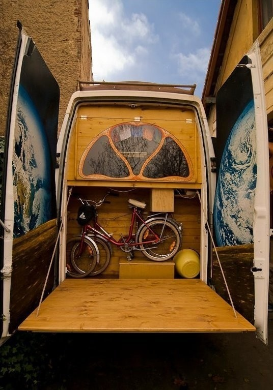 And of course, more storage. - Amazing Off-Grid Traveling Home Was Made Out Of An Old Van… Wait Till You See The Inside.