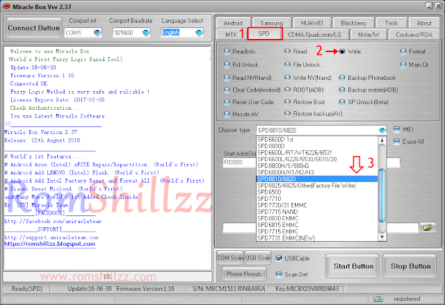 how to flash spreadtrum 8810/6820 Devices