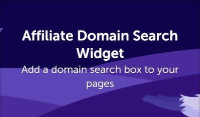 Namecheap affiliate domain search widget