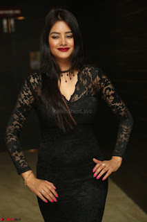 Actress Monica in spicy transparent Black Top at O Pilla Nee Valla Movie Audio Launch Feb 2017 139.JPG