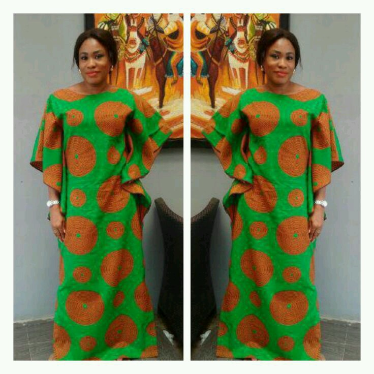 Ankara Styles: long and short gown style