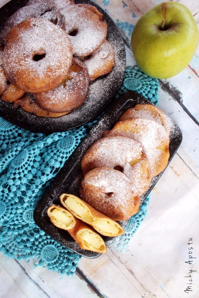 Felii de mere in aluat - gogosi de mere