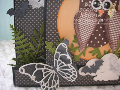 center step card for halloween butterfly