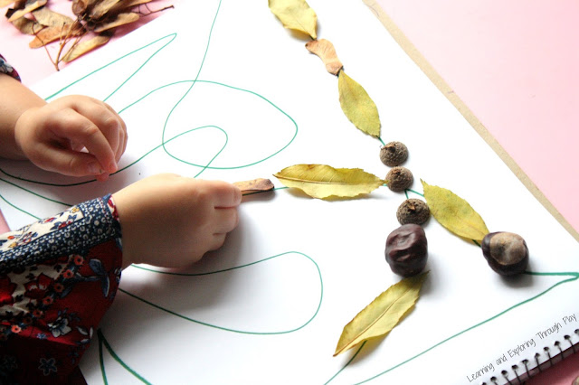 Autumn Activities for Kids - Autumn Line Patterns - Learning and Exploring Through Play