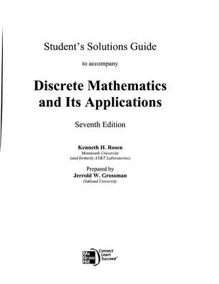 Download Discrete Mathematics And Its Applications 6th