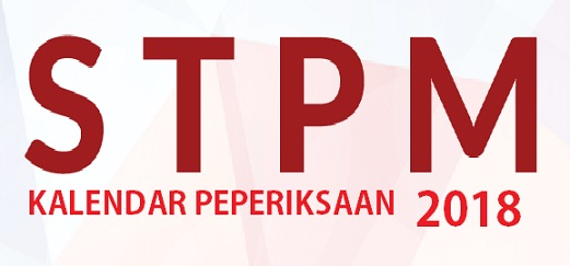 Kalendar Jadual Peperiksaan STPM 2018