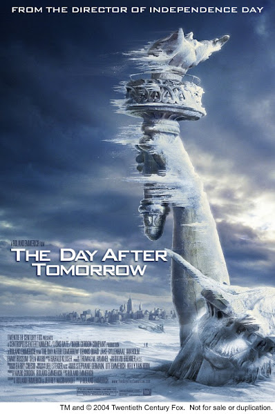 Poster of The Day After Tomorrow 2004 720p Hindi BRRip Dual Audio Full Movie