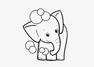 Baby Elephant Coloring Pages