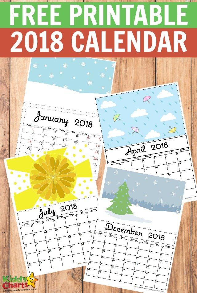 printable calendar 2018 free