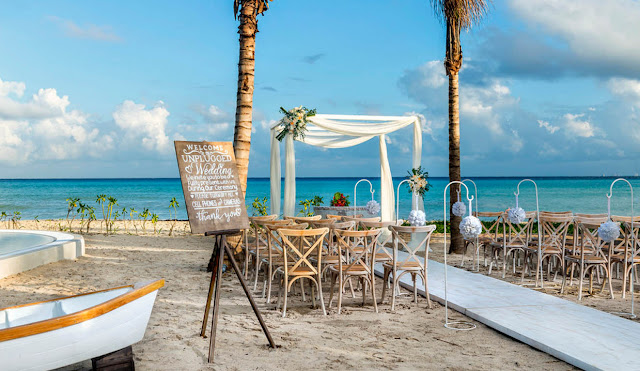 Dominican Republic Wedding Venues ocean blue and sand punta cana