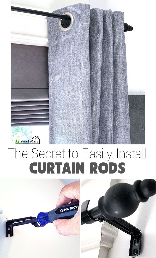 secret to easily install curtain rods
