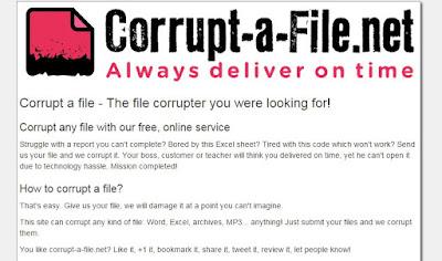 Corrupt a file